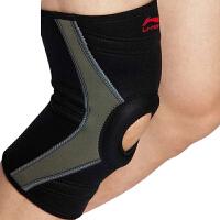 LINING李宁 运动护具 运动保暖型护膝 支撑式透气开孔护膝AQAH188-1