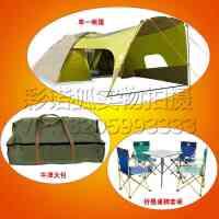 帐篷户外3-4人家庭两室一厅野外露营春游多人自驾游套装沙滩野外