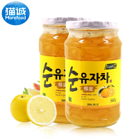 韩国进口  国际 柚子茶560g*2瓶 早餐茶饮柚子茶休闲食品泡沫包装
