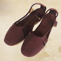 201春夏季新款僧鞋男女款休闲鞋罗汉鞋2015耐磨牛筋底和尚单鞋佛教用品 休闲鞋