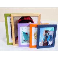 木质礼品相框 平板实木相框 照片墙 6寸挂墙红色