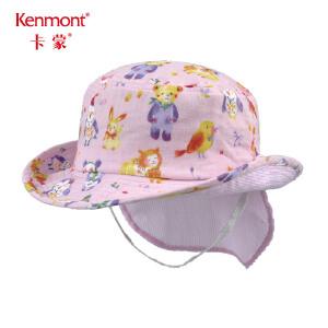 卡蒙1-3岁婴儿渔夫帽宝宝帽子夏护脖护颈遮阳帽男孩盆帽夏季薄款4765