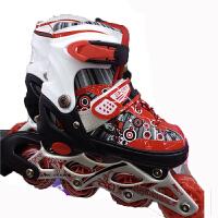 儿童单闪发亮轮滑鞋套装 溜冰鞋套装 送路标 护具头盔安全鞋