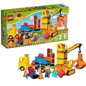 [当当自营]LEGO 乐高 DUPLO得宝系列 大型建筑工地 积木拼插儿童益智玩具10813