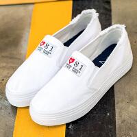 匡王201夏季新款帆布鞋女一脚蹬懒人鞋低帮休闲女鞋学生百搭平底板鞋