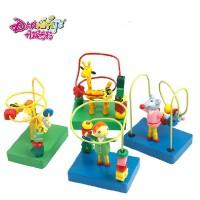 丹妮奇特彩色卡通小绕珠1-2岁宝宝玩具认知动手迷你玩具手眼协调