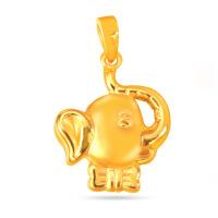 先恩尼黄金 3D硬金黄金吊坠 足金吊坠 小飞象黄金项链 XQZ001046