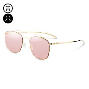 音米2016新款超轻金属太阳镜女潮近视墨镜大框开车眼镜女个性透明 AASAJH692