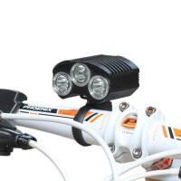 户外用品充电骑行强光T6CREE 自行车灯户外充电ledLED山地车前灯装备
