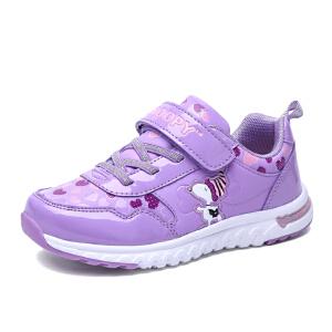 史努比童鞋秋季新品女童鞋可爱粉色儿童运动鞋女童休闲跑步鞋