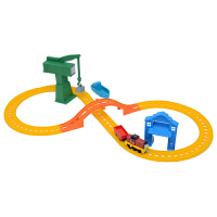 [当当自营]托马斯和朋友 合金火车系列 塞尔缇在码头套装 儿童情景轨道玩具 BHR95