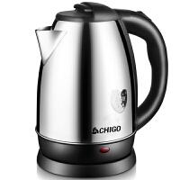 志高(CHIGO)电水壶304不锈钢1.8L电热水壶ZD20A-708G8银色
