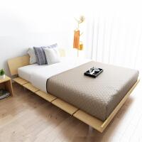 择木宜居 双人床 单人床 大床木床板式床 榻榻米床