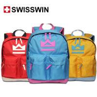 SWISSWIN 瑞士进口书包儿童书包小学生男生女生多功能书包减压双肩书包超级防雨面料