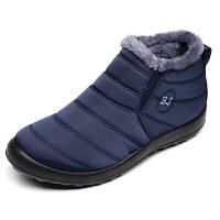 欣清2016冬季新款老北京布鞋加绒男短靴时尚保暖男士棉鞋雪地靴