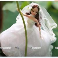中国可儿洋娃娃浪漫婚纱女孩礼物蔷薇新娘9038中国新娘