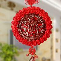 中国结挂件客厅福字桃木乔迁装饰品挂饰新年春节过年出国礼品礼物
