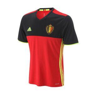 adidas阿迪达斯男装短袖T恤比利时主场比赛运动服AA8744