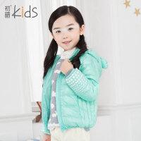 初语童装女童冬装2016羽绒服内胆加厚修身纯色短款儿童羽绒服