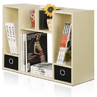 [当当自营]慧乐家 双抽桌面收纳柜白枫木色12253 书架层架 优品优质