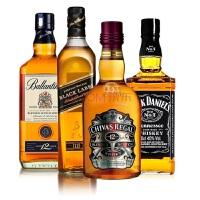 百龄坛12年+尊尼获加12年+芝华士12年+杰克丹尼威士忌 750ml*4 组合套装