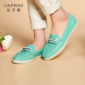 Daphne/达芙妮女鞋春夏款 低跟软面圆头套脚单鞋1515101006