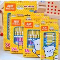 真彩2966A-24酷丫 儿童24色 六角形油画棒 幼儿 无毒蜡笔套装