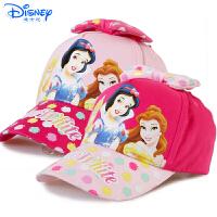 Disney/迪士尼 女孩儿童白雪公主遮阳棒球学生卡通帽子蝴蝶结鸭舌帽PC0126