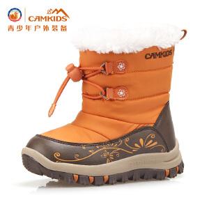 camkids小骆驼童鞋 儿童棉靴 女童雪地靴 足防保暖 止滑耐磨483222 靴子