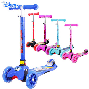 Disney/迪士尼 滑板车儿童踏板车小孩宝宝四轮闪光摇摆车一秒可折叠3-10岁