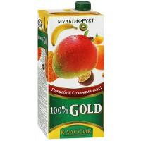 俄罗斯进口 歌德GOLD 混合果汁 0.95L (菠萝 橙 香蕉 柠檬 芒果 猕猴桃)