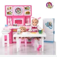 乐吉儿大厨房洋布芭比娃娃套装礼盒2014女孩过家家玩具