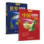 中国地图册 世界地图册(地形版,超值套装组合,尺幅山川・地理好读本,带你认知浩瀚世界)