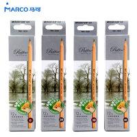 Marco马可 原木绘图 素描铅笔 7001-12CB绘图铅笔绘画铅笔 1盒12支( 7B 3B 2H 6B 2B H 5B B 9B 4B HB 8B 3H)多款规格可选