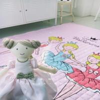 晚歌全棉环保宝宝爬行垫儿童折叠游戏毯婴儿地垫地毯爬爬垫春秋薄款