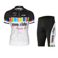 夏季短袖骑行服 骑行上衣骑行裤自行车骑行服装 透气速干骑行套装男