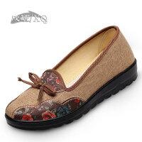 欣清老北京布鞋 女鞋单鞋正品老年人布鞋女妈妈鞋夏