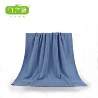 [当当自营] 竹之锦  竹纤维高端加厚简约成人大浴巾 裹胸洗澡大浴巾 Y-012 灰蓝