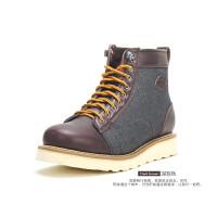 Dickies马丁靴男士靴子秋季新款2017复古厚底大头皮靴韩版短靴男153XG07AP11
