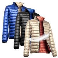 森马哥来买 冬装薄款超轻薄羽绒服 男装短款修身 羽绒服男士109919414131501