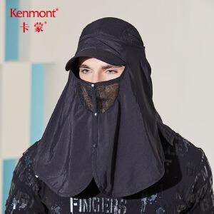 卡蒙夏季摩托车口罩大号男骑车面罩护颈防晒黑色口罩薄款防紫外线3183