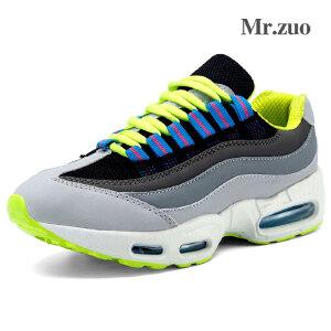 Mr.zuo新款舒适透气网面运动鞋 韩版时尚增高气垫跑步运动鞋女