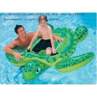 美国INTEX蓝鲸坐骑儿童游泳圈充气玩具坐圈浮圈动物座骑