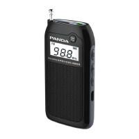 熊猫6203充电收音机老人收音机两波段袖珍便携式迷你插卡半导体