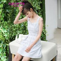 【两件5折】AGECENTRE时代中心 2017春女新款潮夏装夏季新款修身显瘦连衣裙