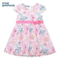 歌瑞家儿童装裙子女童梭织连衣裙花色夏装新款宝宝公主裙乐友