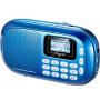 乐果 (NOGO) Q16 便携插卡小音箱带夜光按键 迷你音响 老人FM收音机 中文显示屏