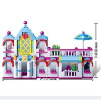 邦宝 媚力都市系列 拼装小颗粒积木女孩玩具美容院6111
