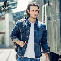 拓路者Pioneer Camp 修身牛仔夹克外套男装 春秋季复古牛仔夹克衫牛仔外衣  566351