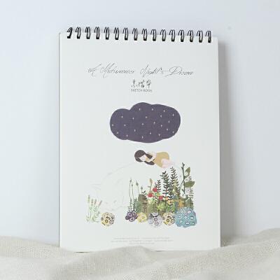 韩国文具a4南风素描本创意涂鸦本美术绘画本速写本画画本活页_白猫的